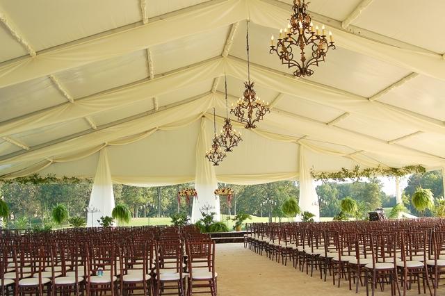 Simple wedding tents